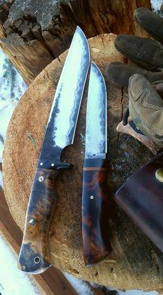 Dark Timber Custom Knives | Buffalo Fighter & North Wood Carver