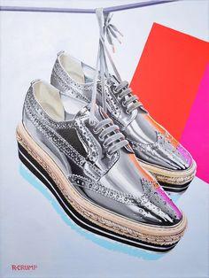 9d36472b6197 Prada sneaker art by Rapheal Crump