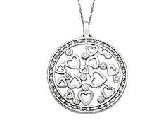 Diamond Heart Medallion Pendant Necklace #Jewelry.com