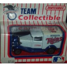 Minnesota Twins 1990 MLB 1/64 Diecast Truck Collectible Limited Edition Baseball Team Car By White Rose Matchbox by MLB  $17.29
