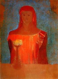 Lady Macbeth.  Odilon Redon (1898).  Pastel on paper.  Private collection.
