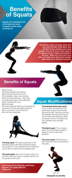 Benefits of Squats: Add challenge, avoid risks to maximize results