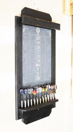 Darts Scoreboard, Cricket Scoreboard, Dartboard Ideas, Stud Finder, Chalkboard Decor, Rough Wood, Dart Board, Cordless Drill, Diana