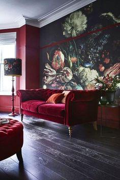 Home Interior Boho .Home Interior Boho Bold Living Room, Living Room Colors, Living Room Decor, Living Rooms, Home Interior, Decor Interior Design, Luxury Interior, Shabby Chic Furniture, Furniture Nyc