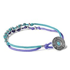 Silver Duo Knot Aqua Lilac, 44€, now featured on Fab.