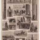 These illustrations from the Illustrated Sporting and Dramatic News of October 1854 give us, as the caption says, 'a glance behind the curtain' to see some of the early backstage trickery used to create special effects. Most of these are based on simple pulley systems, or offstage contributions by stagehands. Smith and others in the late 19th and early 20th century.
