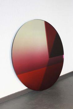 Seeing Glass - Big Round Mirror (Aubergine), Sabine Marcelis & Brit van Nerven, 2019 Big Round Mirror, Round Mirrors, Glass Mirrors, Tinted Mirror, Design Museum, Installation Art, Contemporary Design, Glass Art, Interior Design