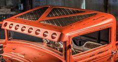 hotrod truck rat rod diamond stitch bead roll sheet metal interior