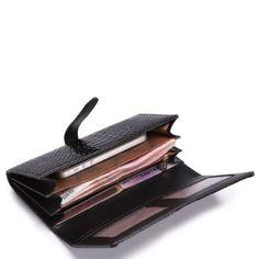 Cartera Para Dama, Color Negro 20x11x3, En Piel - $ 455.00 en MercadoLibre