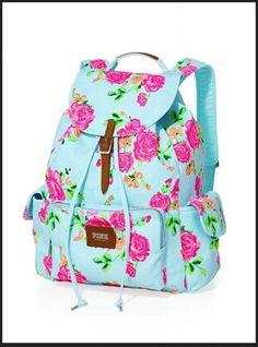 7c691772cb Backpack - Victoria s Secret PINK - Victoria s Secret in Blue Pastel   Grey  Floral Print