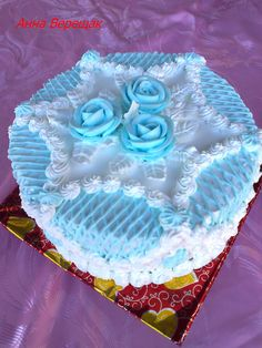 Cake Decorating Designs, Cake Decorating Techniques, Cake Designs, Pretty Cakes, Beautiful Cakes, Amazing Cakes, Just Cakes, Cakes And More, Engagement Cake Design