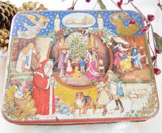 Night Before Christmas Cookie Tin  Vintage by RosebudsOriginals, $14.95