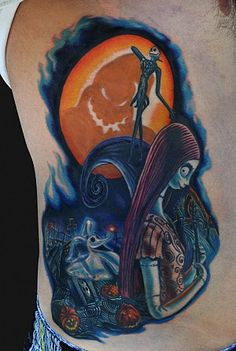 Nightmare Before Christmas Tattoo, Jamie Lee Parker. Seriously fine work!
