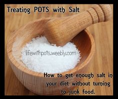 Salt for #POTS - How to get enough salt in your diet without turning to junk food. #PosturalOrthostaticTachycardiaSyndrome #Dysautonomia #Syncope