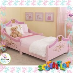 Childrens Toddler Girls Cinderella Princess Single Day Bed Nursery Bedroom Frame, £139.99