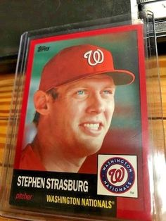 2016 Topps Archives #60 STEPHEN STRASBURG RED #'D 2/50 MINT FROM PACK Baseball Card Values, Baseball Cards, Washington Nationals, Archive, Packing, Mint, Red, Ebay, Bag Packaging