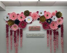 Wedding backdrop paper flowers diy backdrop bride paper flower wall f Large Paper Flowers, Paper Flower Wall, Flower Wall Decor, Diy Flowers, Flower Decorations, Flower Diy, Satin Flowers, Elegant Flowers, Wall Decorations