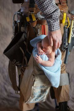 My husband and our youngest grunt Lineman baby