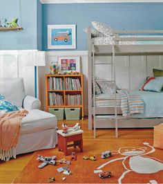 Lily's sons' rooms reflect their hobbies and promote creativity. Photo by David Tsay.