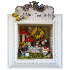 Mad Tea Party Shadow Box Art Alice In by ByAshleyAnonymous on Etsy, $159.95