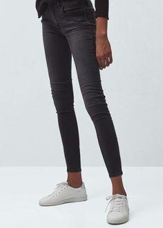 Shinny crop skinny jeans | MANGO