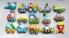 Felt car Felt magnet Vehicles Technics felt by DevelopingToys