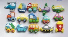Felt car Felt magnet Vehicles Technics felt by DevelopingToys