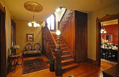 Historic Webster House in Bay City,~Foyer