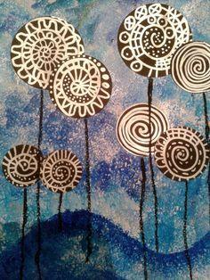 147_Arbres_ Lollipop trees à la manière de Hundertwasser (42)