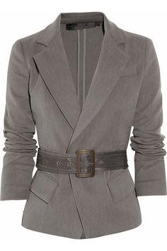 Donna Karan Brushed stretch-cotton jacket