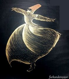 """Dance illuminates and awakens new channels of energy within us""… Arabic Calligraphy Art, Arabic Art, Whirling Dervish, Scratchboard Art, Turkish Art, Sketch Painting, Tile Art, Gravure, Tribal Art"