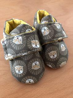 Grey Lion Safari Baby Shoes, 0-3 months