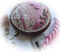 Crazy Patchwork Heirloom Treasure - pincushion kit