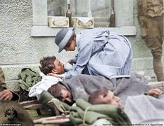 Haunting Colorized Photos Reveal the Devastation Caused by the Spanish Flu Which. - Haunting Colorized Photos Reveal the Devastation Caused by the Spanish Flu Which Killed at Least Fi - Soldiers Returning Home, Flu Outbreak, Colorized Photos, African American Weddings, American Red Cross, Famous Last Words, World War I, First World, Spanish