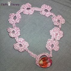 Pink crocheted bracelet with flowers! Ροζ βραχιολάκι φτιαγμένο με βελονάκι! Crochet Necklace, Jewelry, Fashion, Moda, Jewlery, Jewerly, Fashion Styles, Schmuck, Jewels