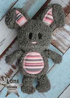 Standing Bunny Stuffie: The Lone Stitcher