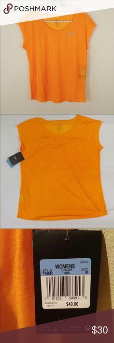 Nike Dri-Fit Cool Breeze Shirt Color is vivid orange. Nike Tops