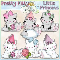My Friend Fluffy Pretty Kitty 1 - NE Cheryl Seslar Clip Art : Digi Web Studio, Clip Art, Printable Crafts & Digital Scrapbooking!