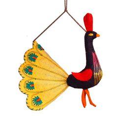Yellow Peacock Felt Holiday Ornament - Silk Road Bazaar (O) Peacock Ornaments, Bird Ornaments, Handmade Ornaments, Holiday Ornaments, Holiday Decor, Holiday Crafts For Kids, Christmas Crafts, Kids Christmas, Felt Birds