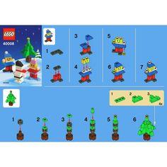 LEGO Snowman Building Set 40008 Instructions