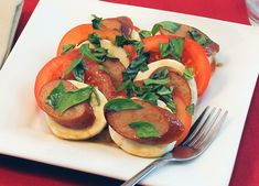 Tomato and Mozzarella Salad with Johnsonville Apple Chicken Sausage