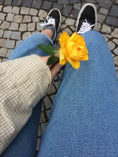 Yellow aesthetic w/ a beautiful rose