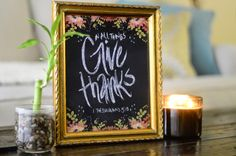 """""""In all things, Give Thanks"""" print giveaway! Tyler Kent White, Give Thanks, Ecommerce Hosting, Quilling, Giveaways, Biscuit, All Things, Thankful, My Favorite Things"""