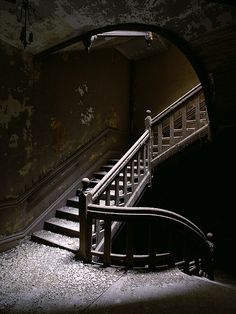 Worcester State Hospital by Future Impaired---- I LOVE stairs...(and also I want to go shooting here)
