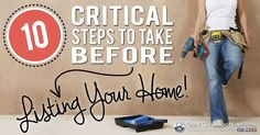 10 Critical Steps to Take Before Listing Your House for Sale. via GreatColoradoHomes.com