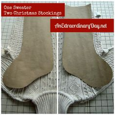 repurposed sweaters | ... sweater on a cutting board or table inside out and study the sweater