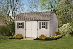 Classic Dutch Barn style shed makes for a great garden shed! Vinyl Storage Sheds, Vinyl Sheds, Shed Storage, Barn Style Shed, Architecture Details, Storage Solutions, Dutch, Outdoor Structures, Classic