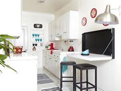 cocina con mesa plegable - 8 soluciones inteligentes de almacenaje en la cocina