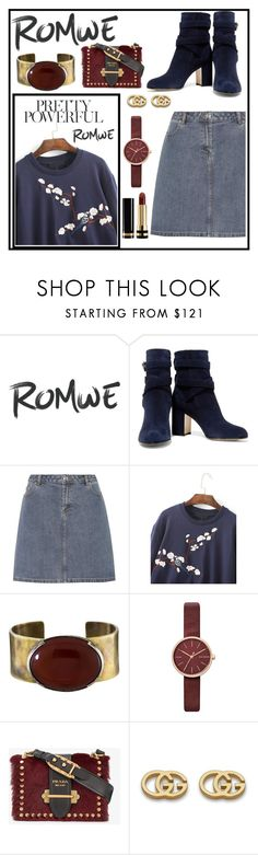 """""""Untitled #177"""" by ladybunny88 ❤ liked on Polyvore featuring Gianvito Rossi, A.P.C., Orduna Design, Skagen, Prada and Gucci"""