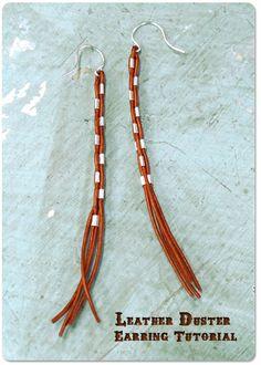 DIY Leather Duster Earrings